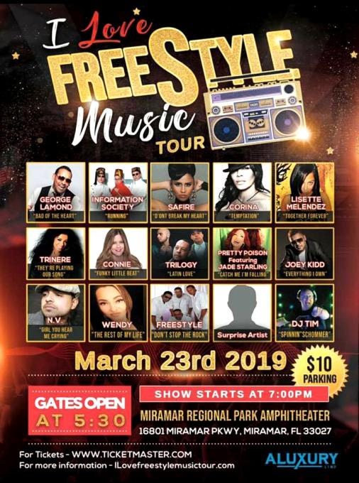 I Love Freestyle Music Tour at Abraham Chavez Theatre